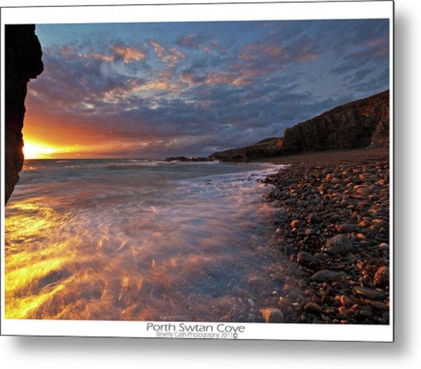 Porth Swtan Cove Metal Print