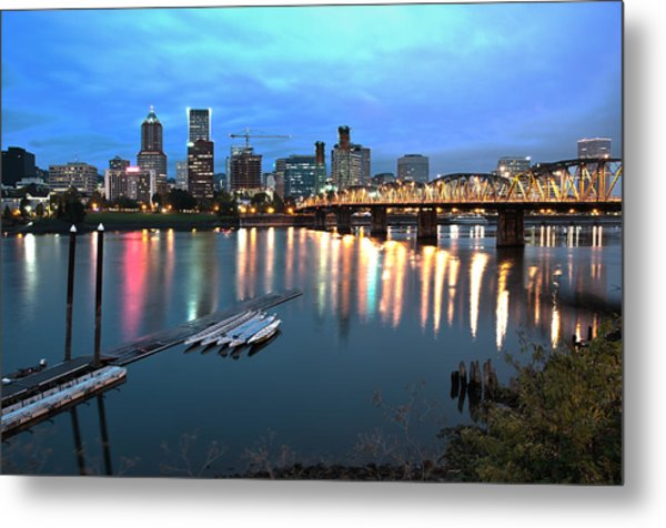 Portland Morning Metal Print
