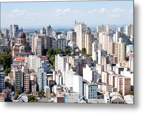 Porto Alegre Historic District Metal Print