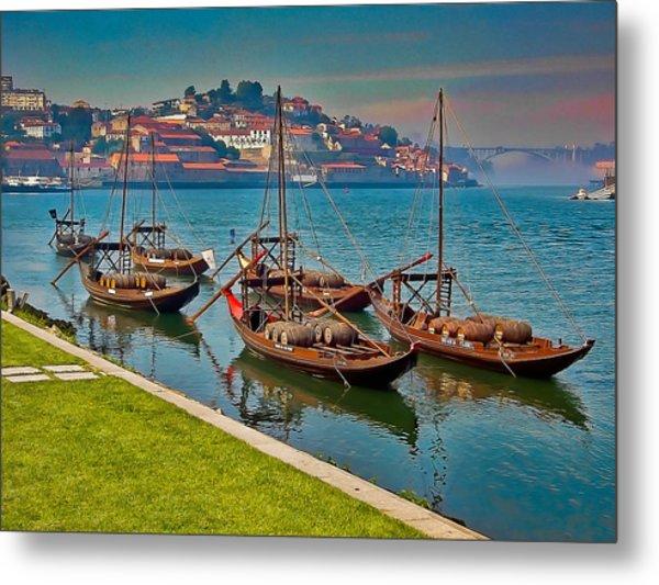 Porto Barges Metal Print by Scott Massey