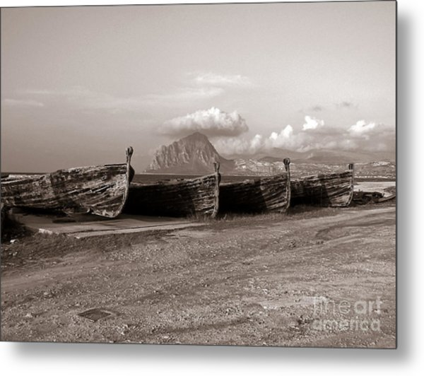 Old Port Of Trapani Metal Print
