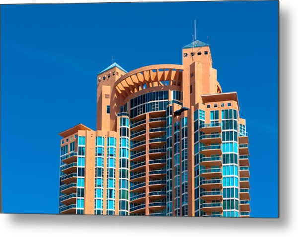 Portofino Tower At Miami Beach Metal Print