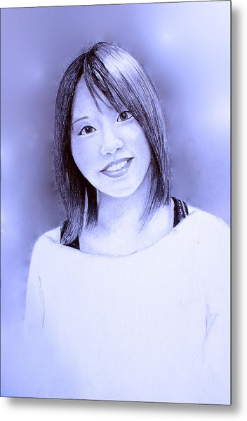 Portrait Of A Japanese Girl Metal Print
