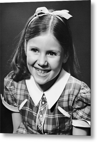 Portrait Of Girl Metal Print by George Marks