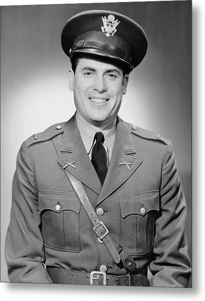 Portrait Of Man In Uniform Metal Print by George Marks