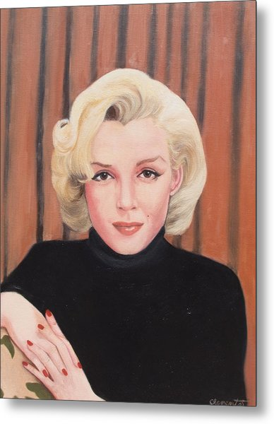 Portrait Of Marilyn Metal Print