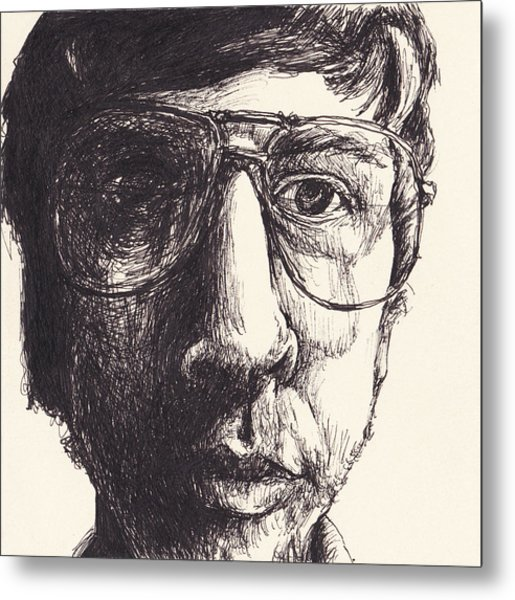 Portrait Of Michael G Metal Print by Canis Canon