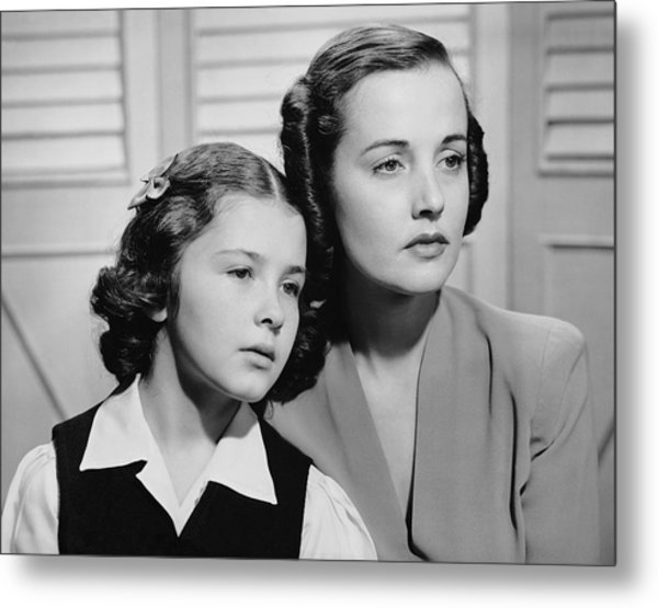 Portrait Of Mother & Daughter Metal Print by George Marks