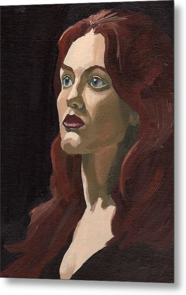 Portrait Of Virginia P Metal Print