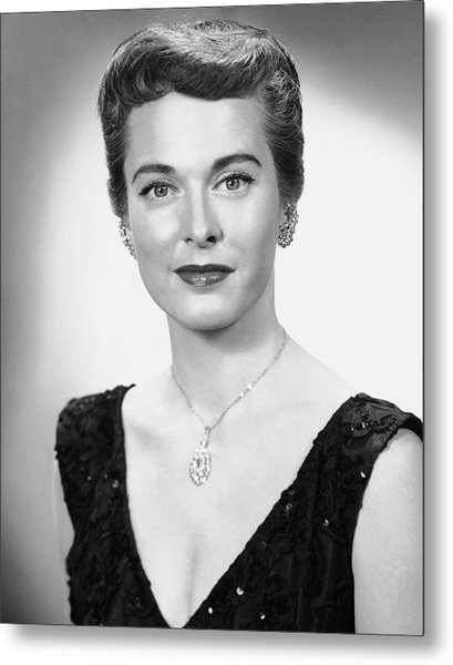 Portrait Of Woman Dressed Formally Metal Print by George Marks