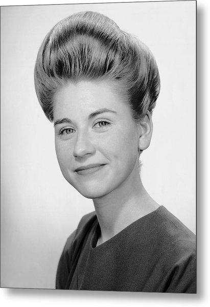 Portrait Of Woman Smiling Metal Print by George Marks