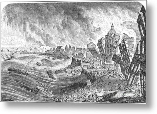 Portugal Earthquake, 1755 Metal Print