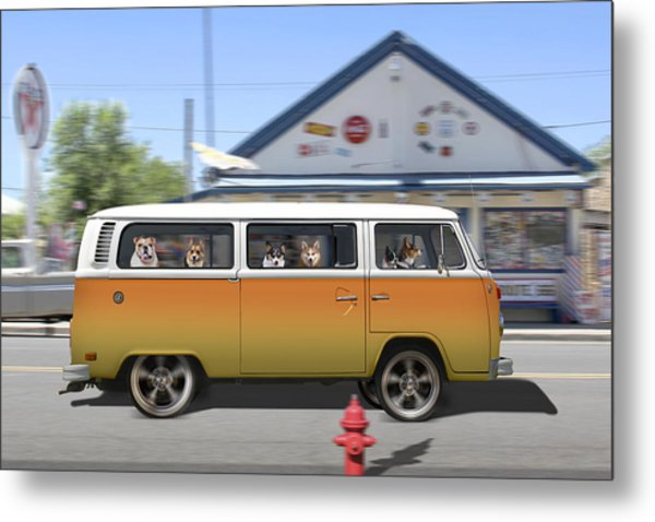 Postcards From Otis - Road Trip  Metal Print