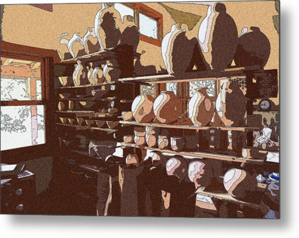 Potter's Shelf Metal Print