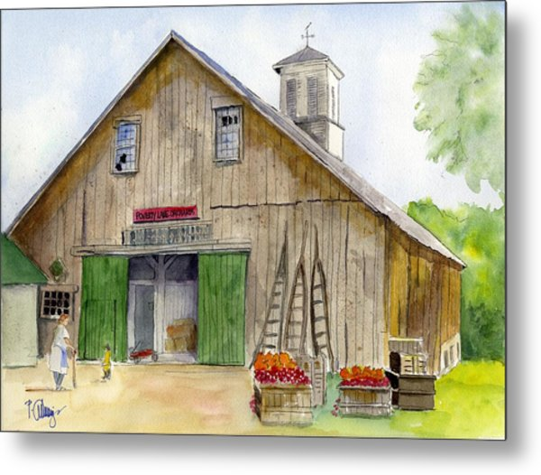 Poverty Farms Orchard Metal Print by Paul Cummings