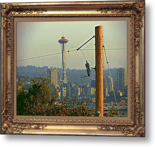power Poles as Art - 6 Metal Print by Larry Mulvehill