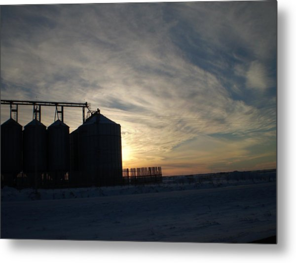 Prairie Evening Metal Print by Tracy Fallstrom