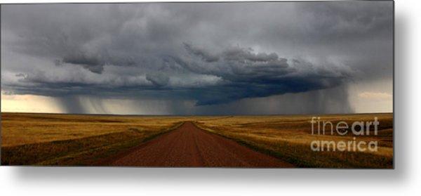 Prairie Storm In Canada Metal Print