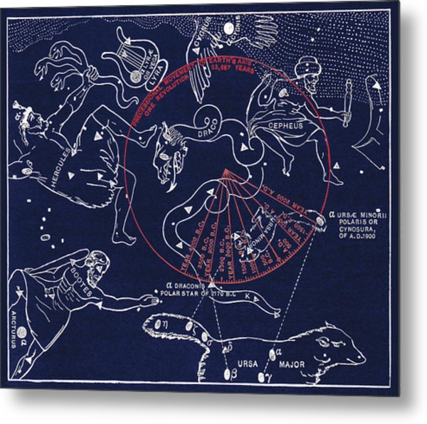 Precession Of The North Celestial Pole Metal Print by Sheila Terry