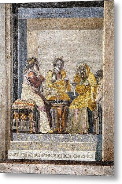 Preparing A Love Potion, Roman Mosaic Metal Print by Sheila Terry