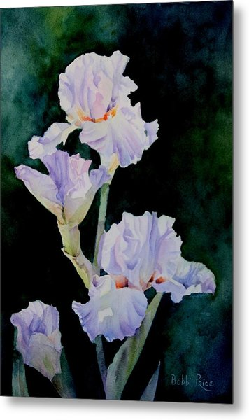 Pretty In Purple Metal Print by Bobbi Price