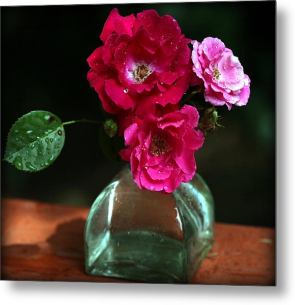 Pretty Red And Pink Flowers Metal Print