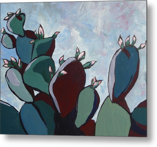 Prickly Pear Stand Metal Print