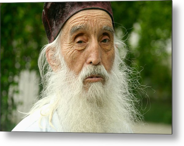 Priest At Ghighiu Monastery Metal Print