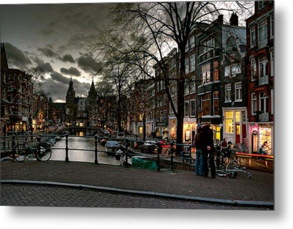 Prinsengracht And Spiegelgracht. Amsterdam Metal Print