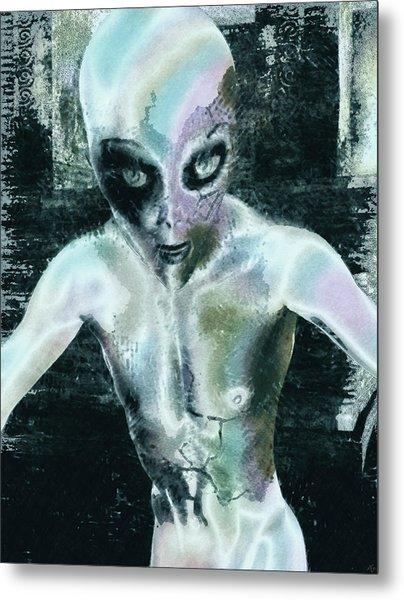 Psychotropic Alien Metal Print by Maynard Ellis