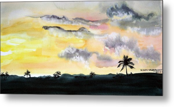 Puerto Rico Sunset Metal Print by Diane Vasarkovy