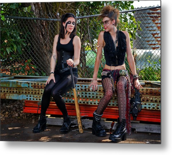 Punk Women Metal Print by Jim Boardman