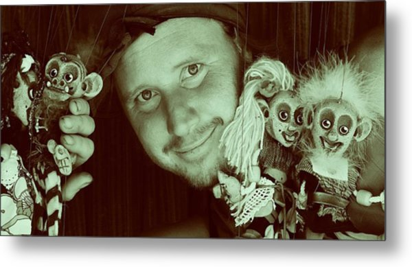 Puppets Break Out Metal Print