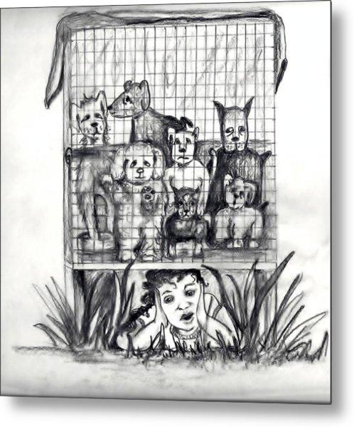 Puppy Mill Discovered Metal Print by Carol Allen Anfinsen