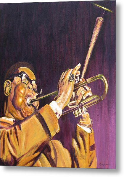 Purple And Gold Dizzy Gillespie Metal Print