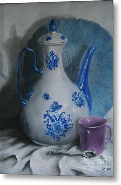 Purple Cup Metal Print