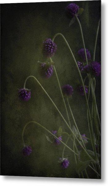 Purple Drops Metal Print