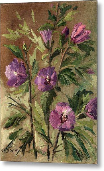 Purple Flowers 2 Metal Print