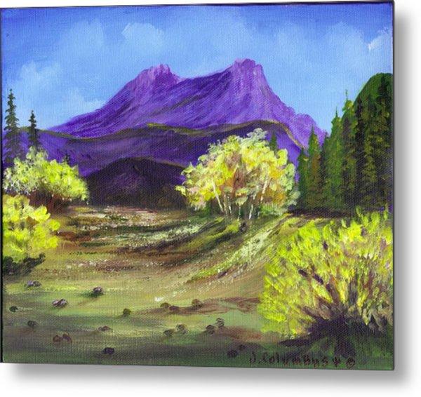 Purple Mountain Beauty Metal Print by Janna Columbus
