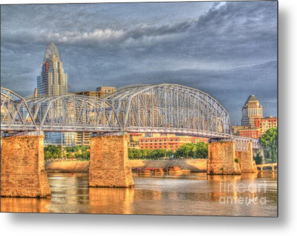 Purple People Bridge Metal Print