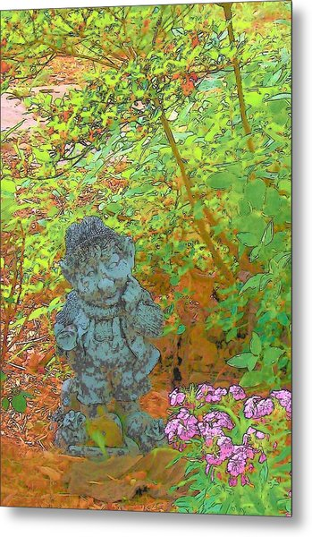 Puzzled Metal Print by Wide Awake Arts