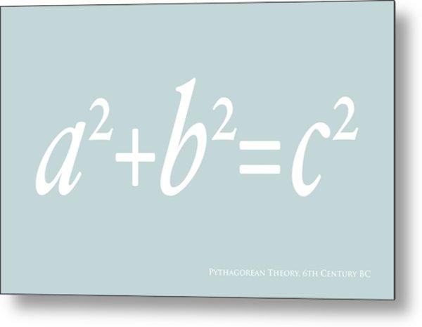 Pythagoras Maths Equation Metal Print