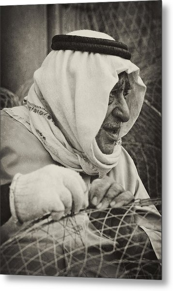 Qatari Fish-trap Maker Metal Print