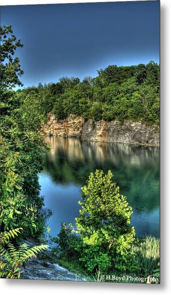 Quarry Of Reflections 2 Metal Print by Heather  Boyd