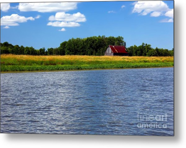 Quebec Countryside Metal Print by Sophie Vigneault
