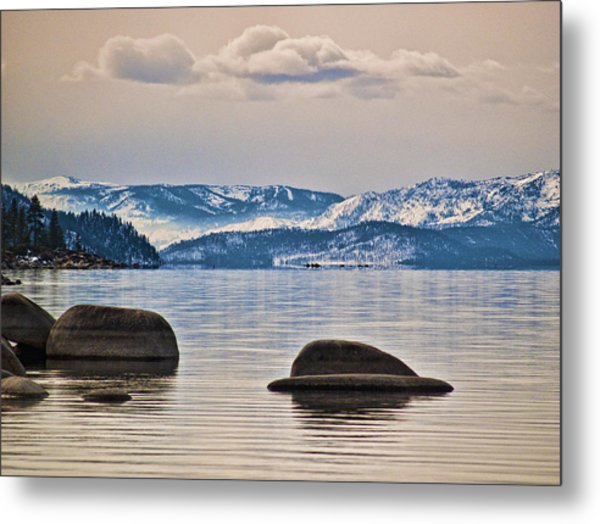 Quiet Lake Tahoe Metal Print