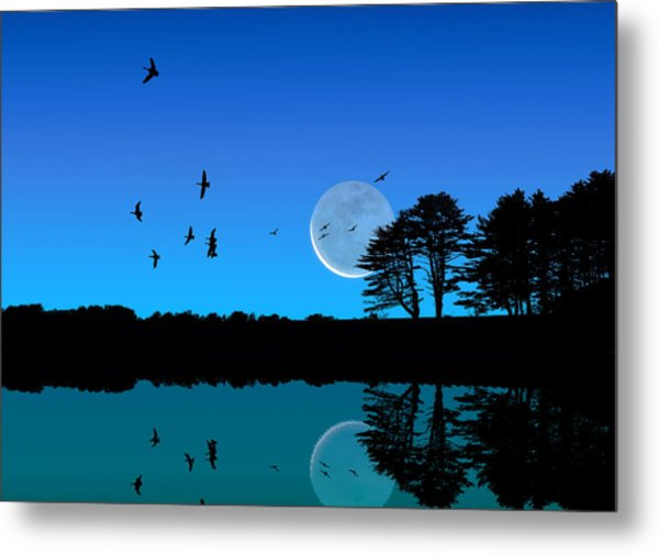 Quiet Moonrise Metal Print