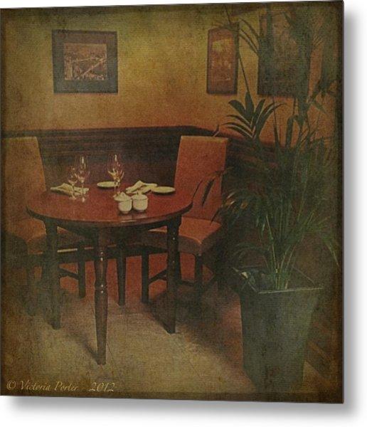 Quiet Nook In Hotel Dining Room Metal Print