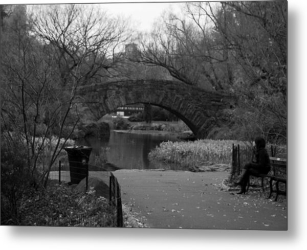 Quiet Time In Nyc Metal Print by Kenneth Drylie