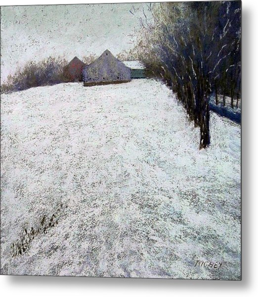 Quiet Winter Day In Bucks County Metal Print by Bob Richey